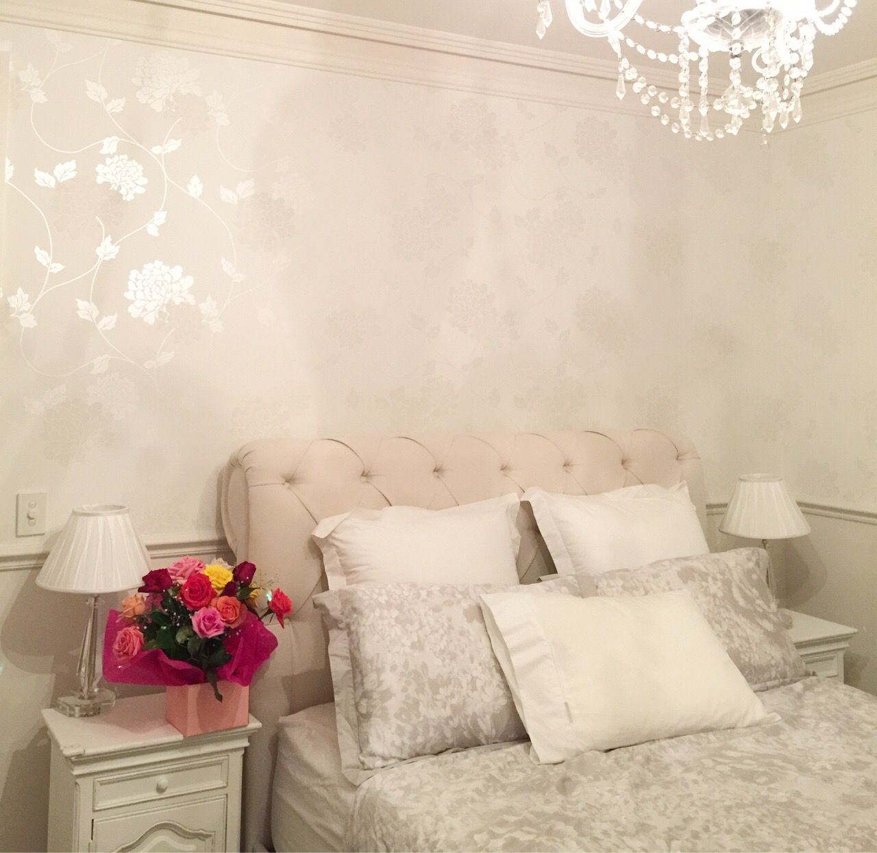 Laura Ashley Isodore Cotton White Wallpaper Interiors In