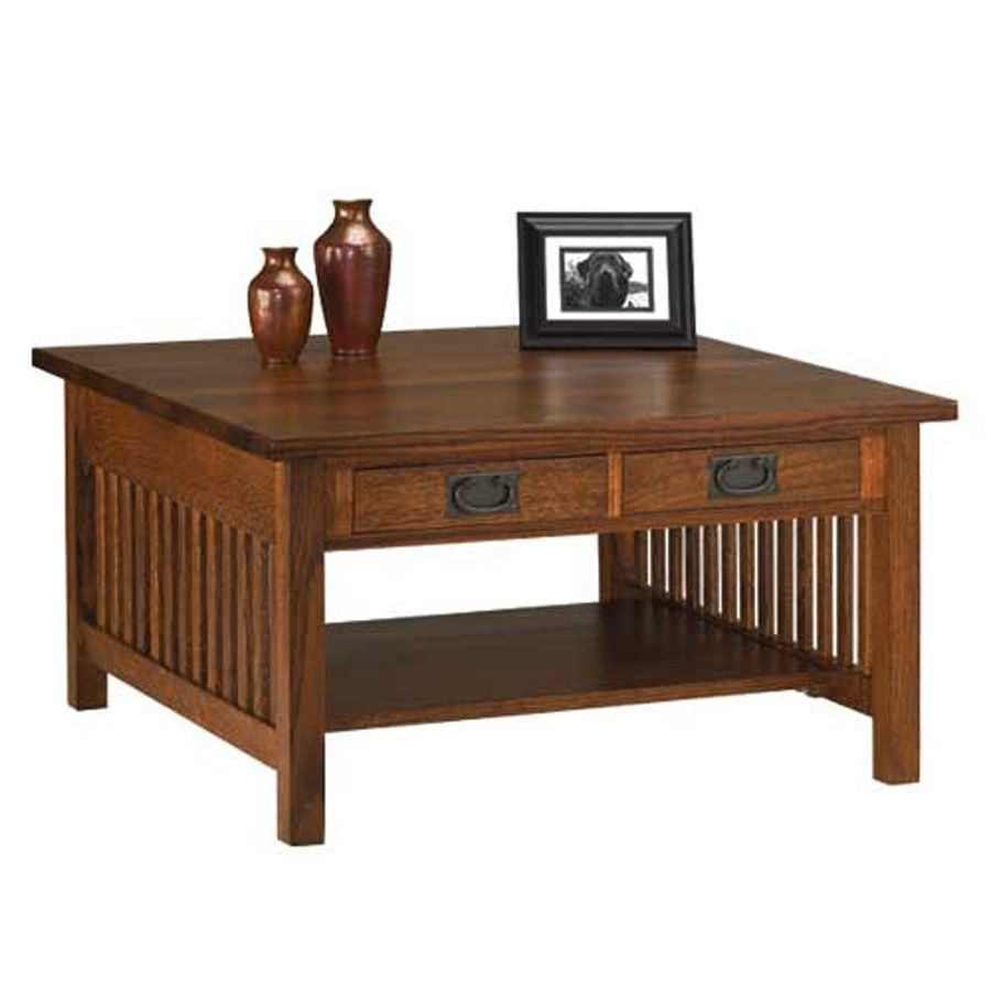 Square Mission Style Coffee Table Mission Coffee Table Square Mission Coffee Table Mission Furniture Solid Oak Furniture Furniture
