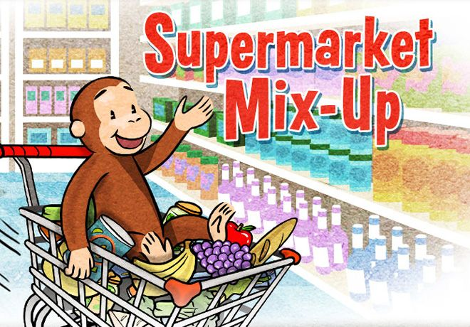 supermarket mix up curious george has made a bit of a mess in the - Curious George Halloween Games