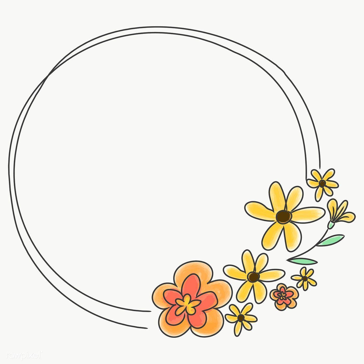 Cute Doodle Floral Wreath Transparent Png Free Image By Rawpixel Com Pimmy Floral Wreaths Illustration Cute Doodles Floral Doodle