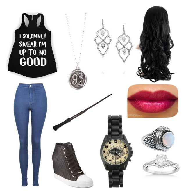 """""""order of pheonix"""" by gigipintoribeiro on Polyvore featuring Topshop, DKNY, Stephen Webster and Allurez"""
