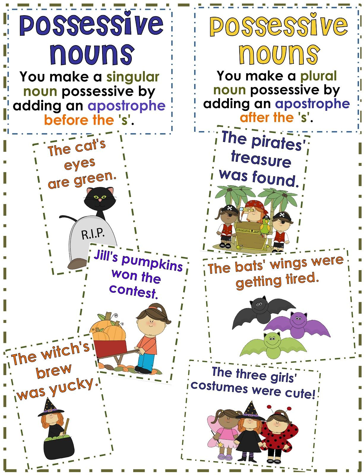 2nd Grade Smarty-Arties taught by the Groovy Grandma!   Possessive nouns [ 1600 x 1226 Pixel ]