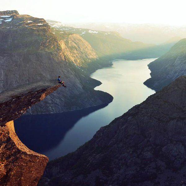 Ringedalsvatnet in Skjeggedal, Norway.