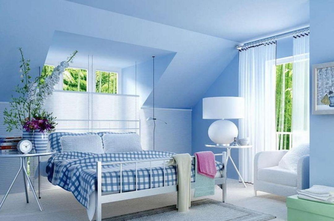 Baby blue living room decor