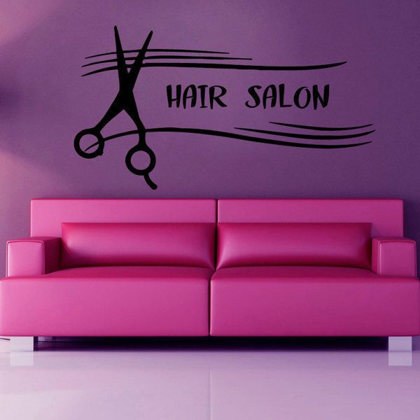 Hair Salon Decor Sticker Vinyl Wall Art