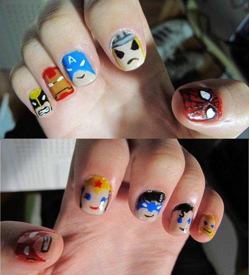 Tokidoki Superhero Nails! | Beauty | Pinterest | Diseños de uñas