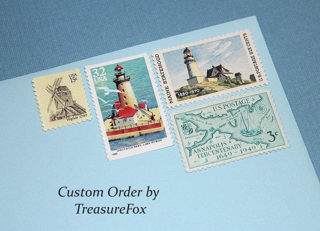 Reserved Custom Order for Susan    Unused Vintage US Postage Stamps