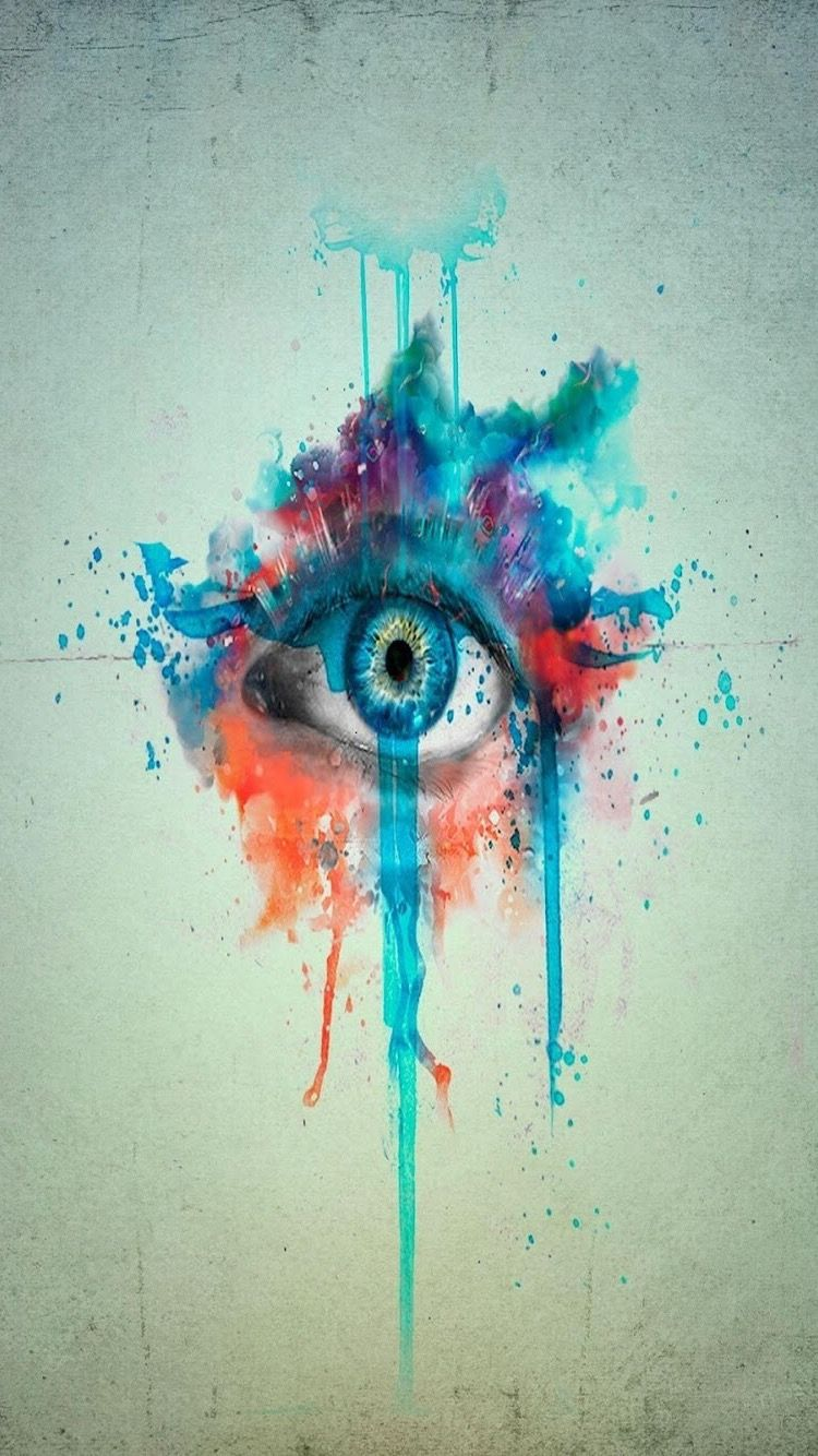 Hd Iphone Wallpaper Watercolor Eye Painting Eye Art