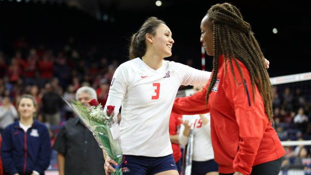 Arizona Volleyball Season In Review Volleyball News Volleyball Team Senior Day