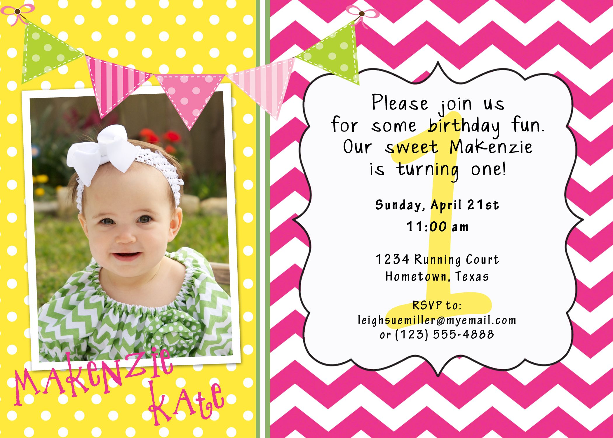 Pin By Jen Fisher On 1st Birthday Ideas One Year Birthday Birthday Party Invitations Birthday Fun