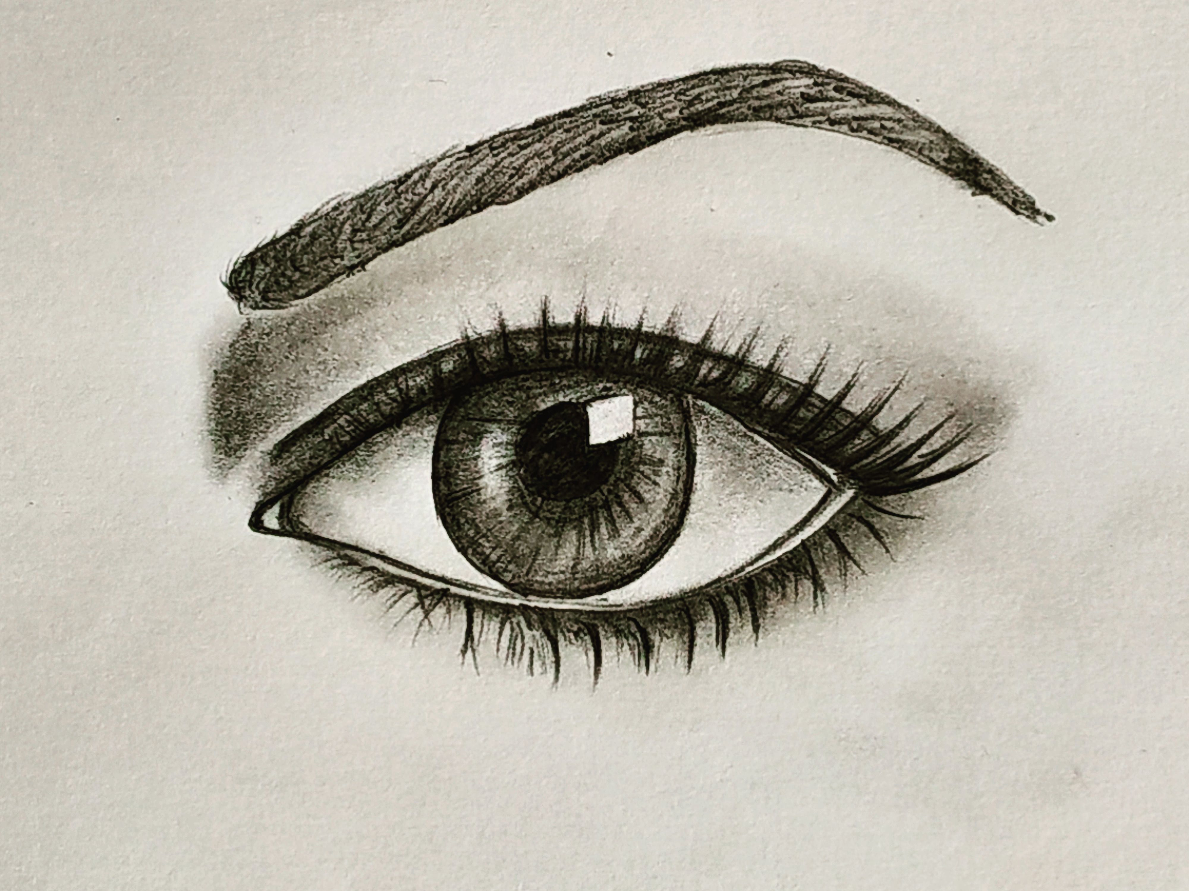 How to draw a realistic eye for beginners easy drawings