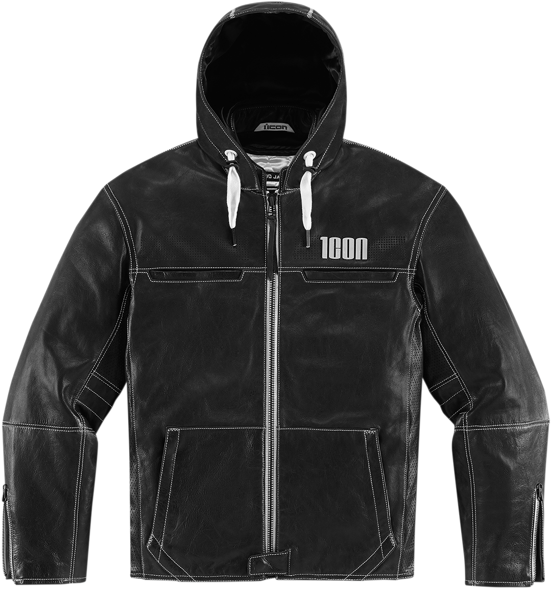 Icon 1000 The Hood Jacket Black Part 017871 MSRP 659