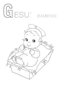 Risultati immagini per da colorare gesù bambino | schede ...