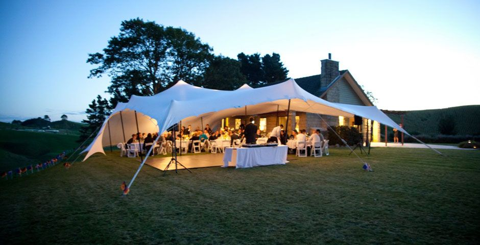 A Small Relaxed Intimate Wedding At A Family Home In Matamata A Stretch Tent Is The Perfect Accessory Wedding Marquee Hire Tent Bedouin Tent