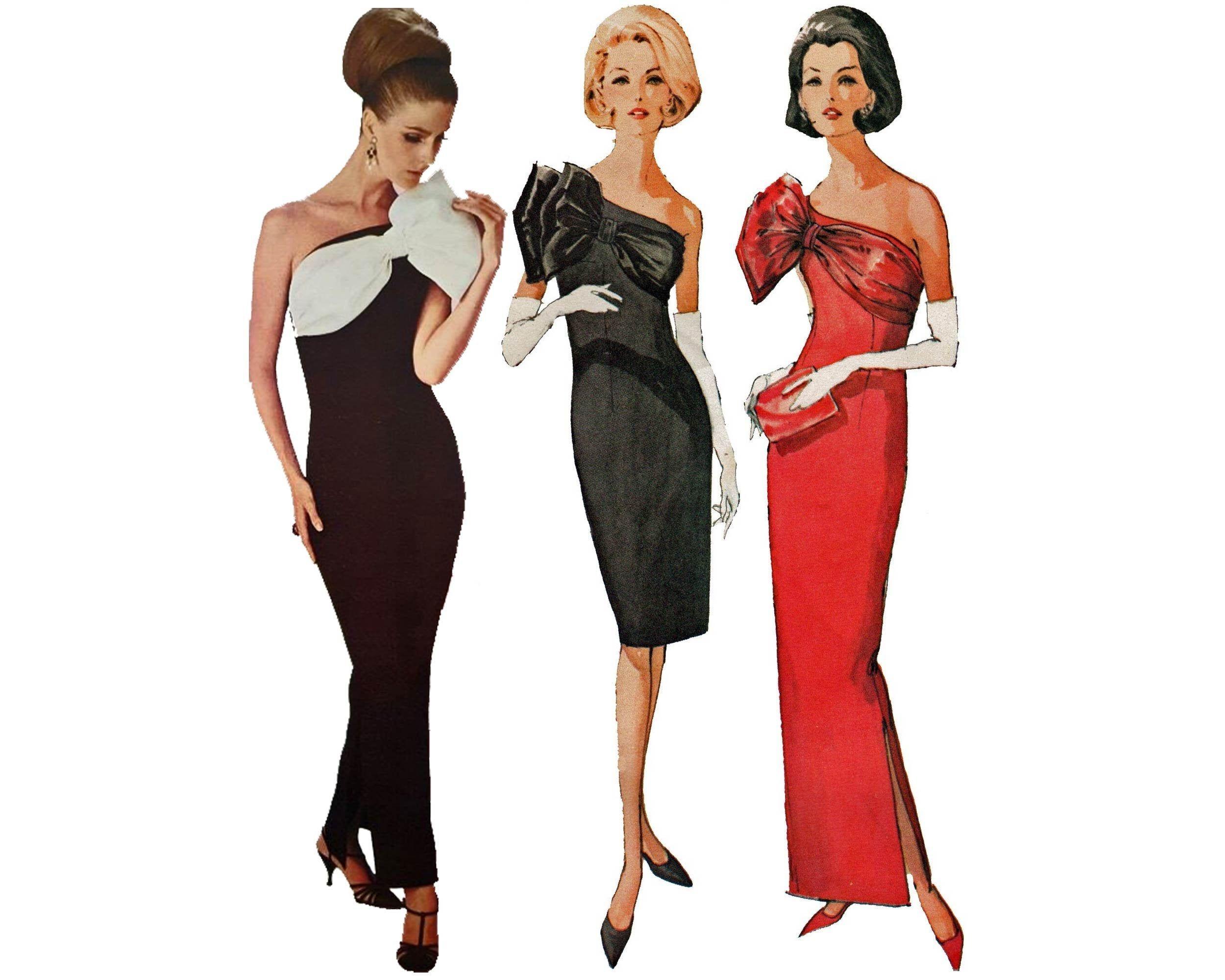 Vintage 60s Cocktail Dress Evening Gown Pattern By Designer Pauline Trigere Mccalls 7549 Evening Gown Pattern Evening Dress Patterns Evening Dresses Vintage [ 2000 x 2500 Pixel ]