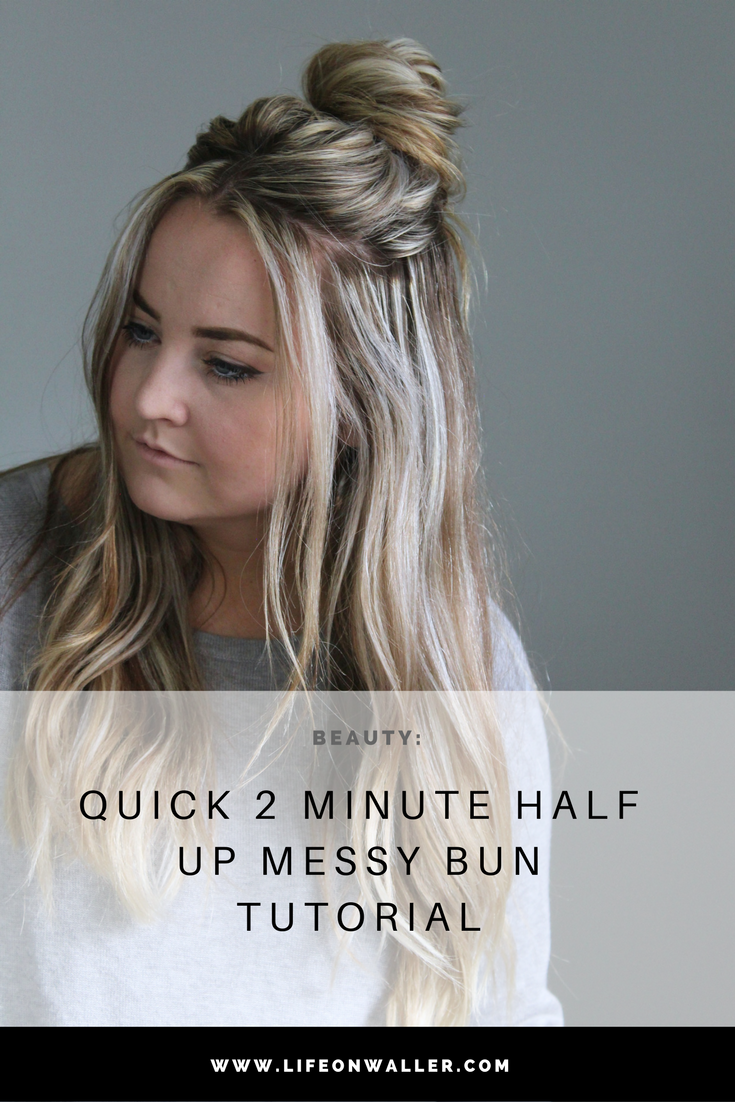 This is a super stylish and trendy half up hairstyle that is quick