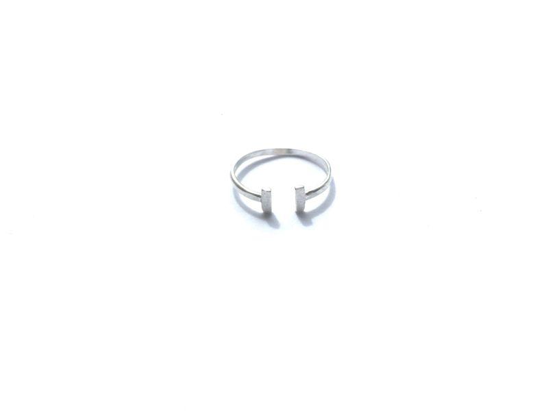 Ring dubbel bar (sterling zilver 925)