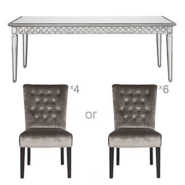 Includes Our Sophie Mirrored Dining Table + Lola Side Chairs Awesome Ideas