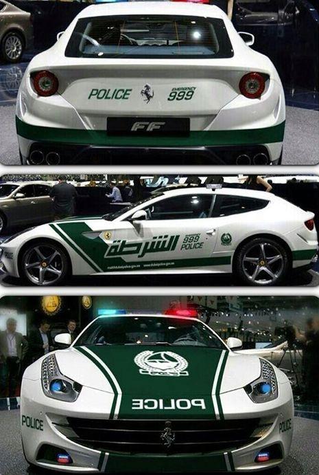 Dubai Has An Aventador And Ferrari Ff Police Car Police Cars