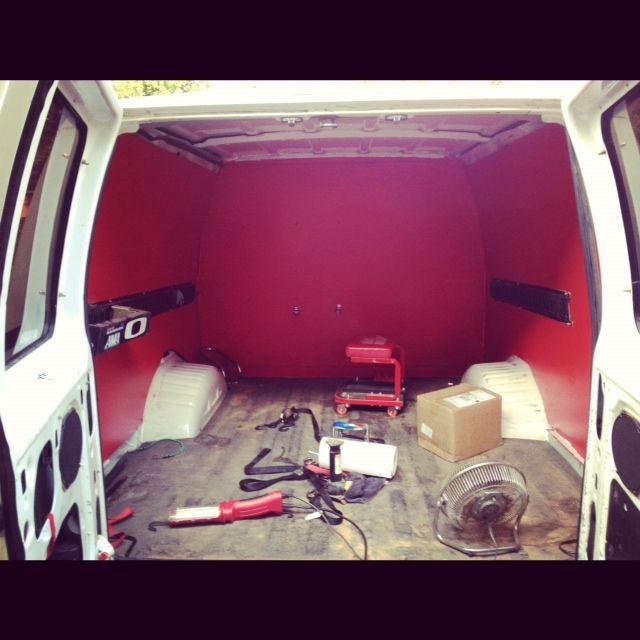 Moto Van seal the gaps and paint