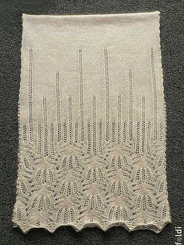 Panna Frost Flower Lace Shawl Pattern By Foldi Knit Knitting