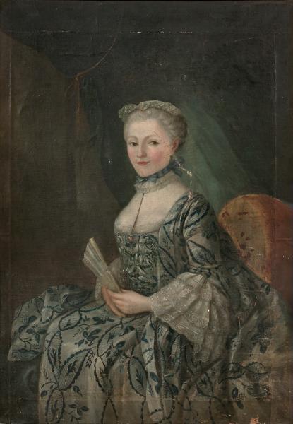 Ecole Francaise Du Xviiie Siecle Portrait D Une Dame De Qualite A L Eventail 18th Century Clothing Century Clothing 18th Century