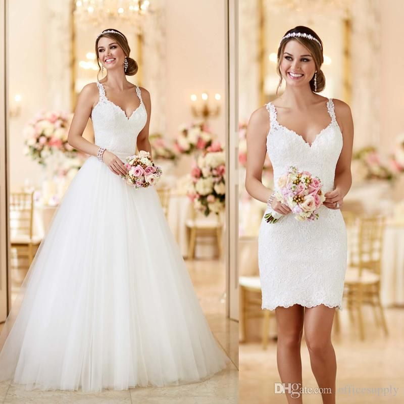 Elegant Simple Sleeveless Lace Wedding Dresses 2017 Puffy New ...