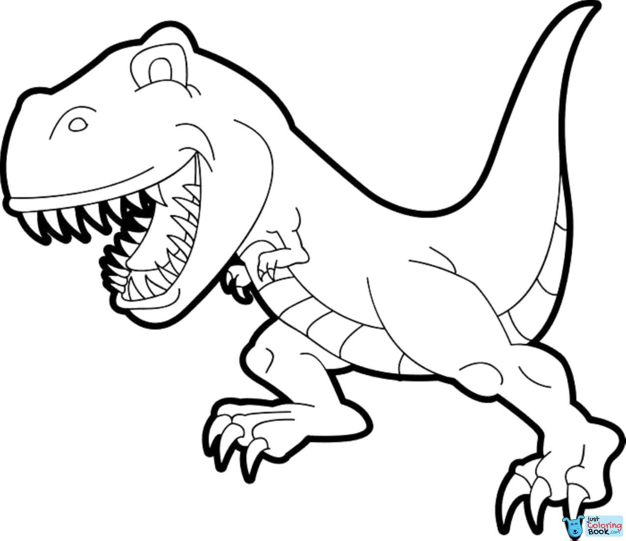 Simple T Rex Coloring Pages Kids Colouring Pages Dinosaur Within Cartoon Tyrannosaur Coloring Dinosaur Coloring Pages Dinosaur Coloring Animal Coloring Pages