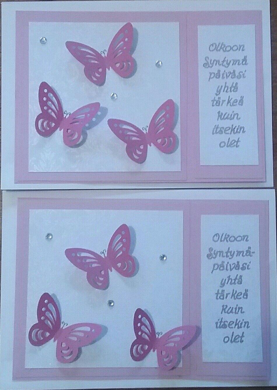 Syntymäpäiväkortit Perhos -aihe