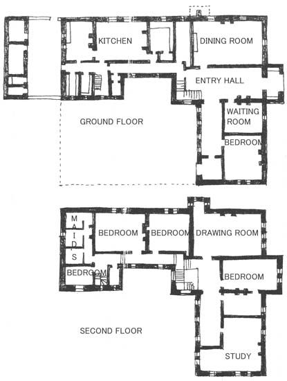 Chapter 17: Floor Plan of the Red House in Kent, England