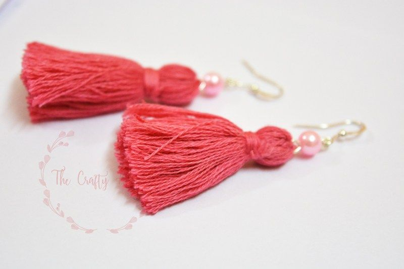Easy And Simple Diy Tassel Earring Tutorial With Embroidery Threads