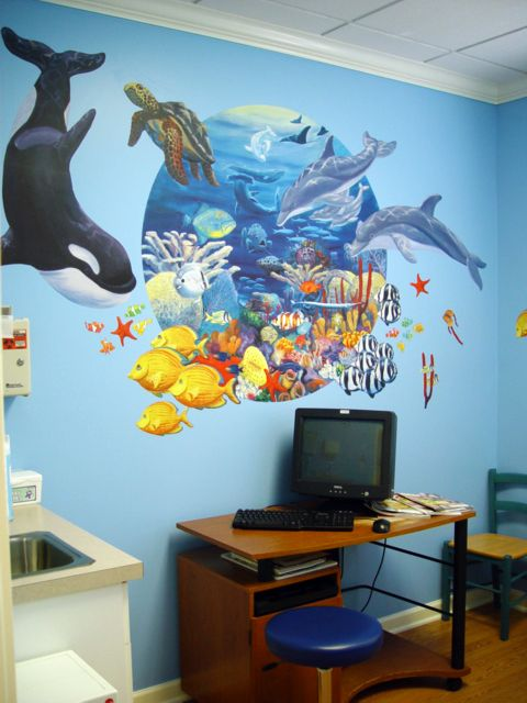 Pediatric Office Decor under the sea | office decorating | pinterest