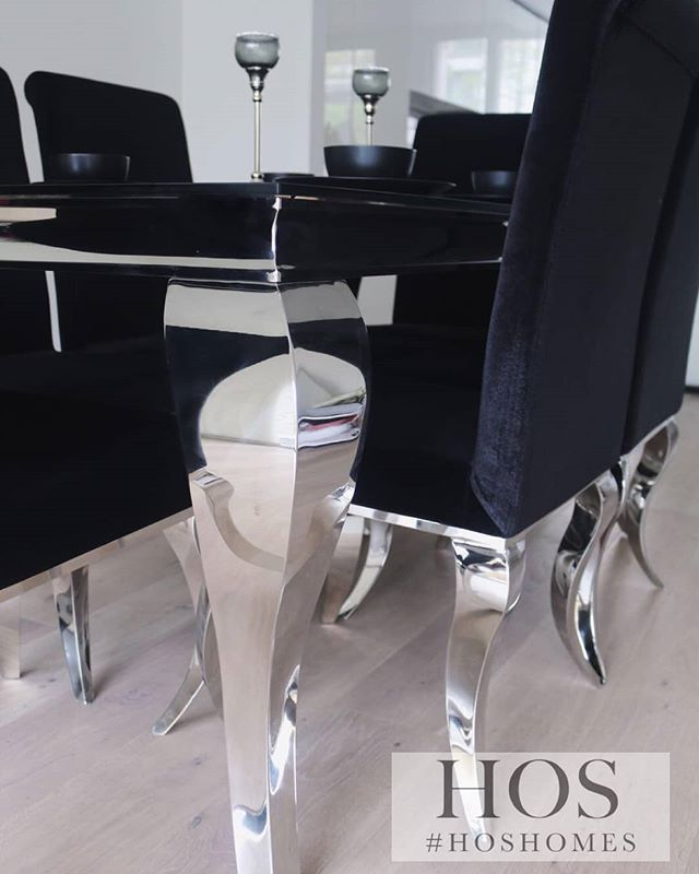 Chrome Modern And Functional The Skyline Dining Set At Hos