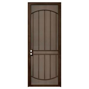 Unique Home Designs 36 In X 96 In Arcada Copper Surface Mount Right Hand Steel Security Door With Expanded Metal Screen Idr064096l2078 The Home Depot Unique House Design Metal Screen Metal Screen Doors