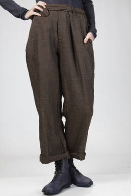 Daniela Gregis | man wide trousers in washed wrinkled wool and linen gauze | #danielagregis
