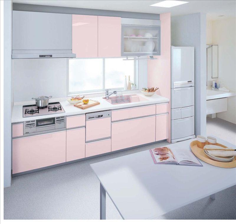 システムキッチンギャラリー カラーで探す ピンク系 E Kitchen