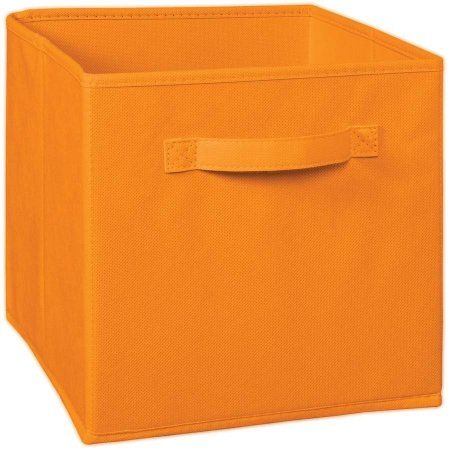 Closetmaid Multi Purpose Fabric Storage Drawer Orange Walmart Com Fabric Drawers Closetmaid Fabric Storage