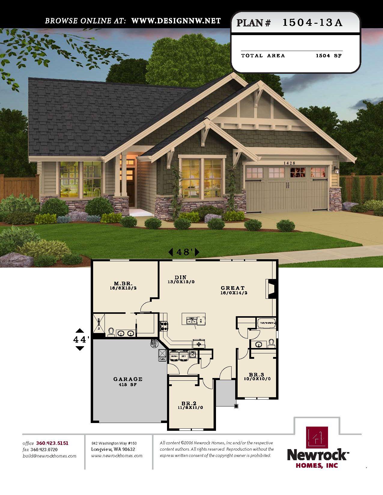 Newrock Homes Plan 1504 13a Newrock Homes Craftsman House Plans Dream House Plans House Blueprints