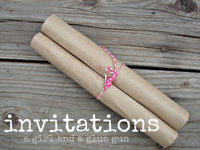 This site has the best and cutest DIY party invitations! And I might actually have the motivation to do some of these.