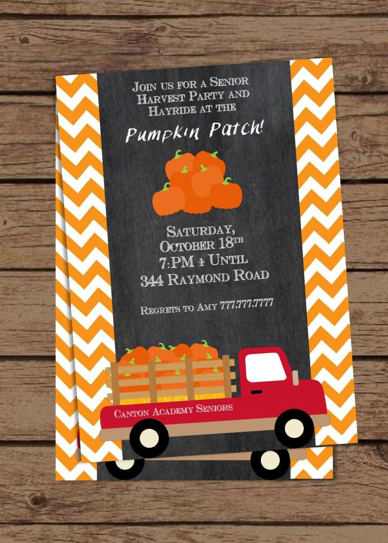 DIY Printable Pumpkin Patch Invitation, Fall Birthday ...