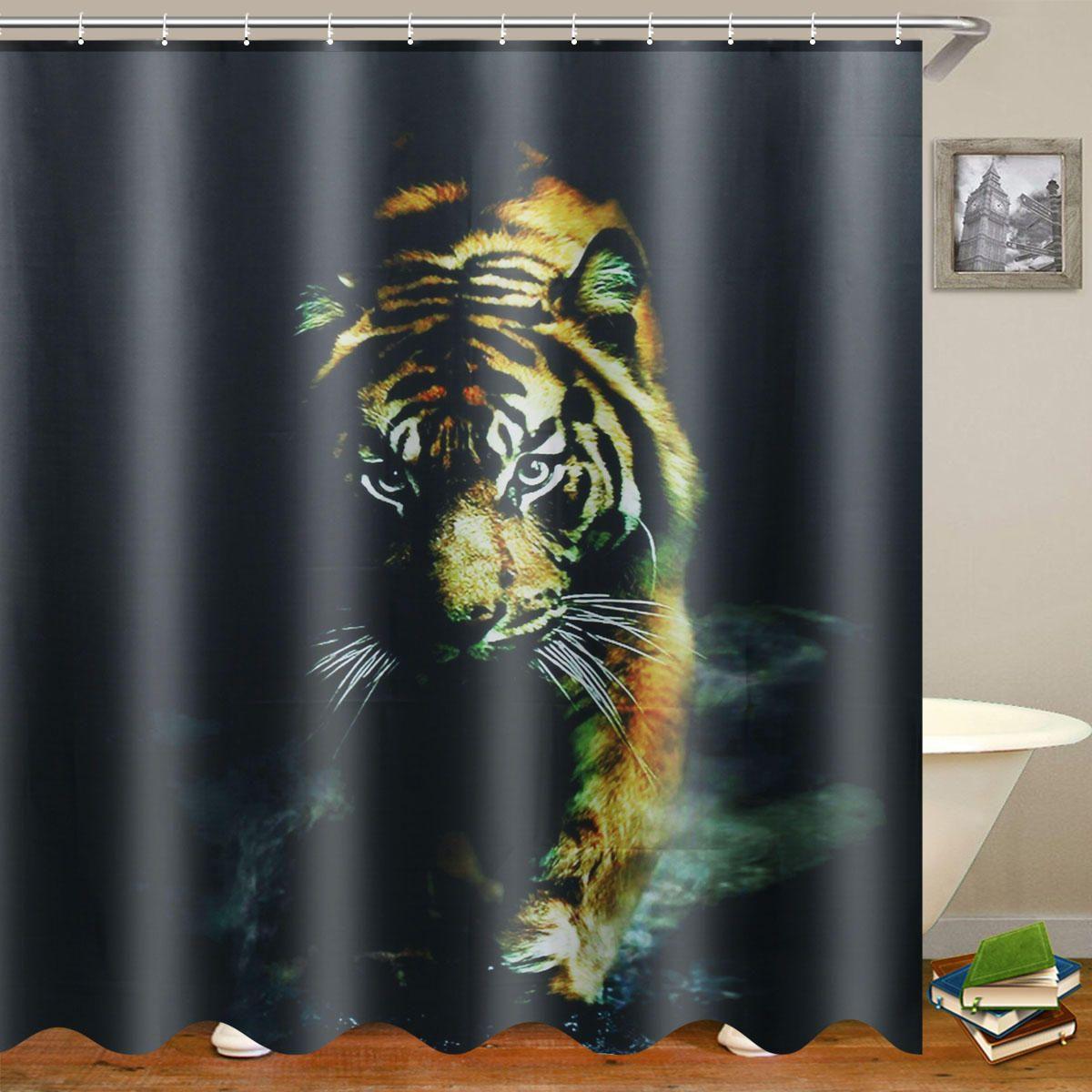 72 X 72 Wildlife Animal Nature Decor Tiger Bathroom Decor Shower
