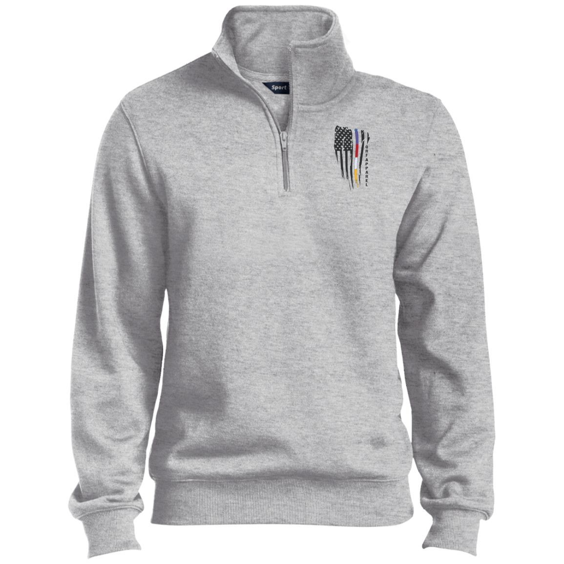 QRF Brand Tall Quarter-Zip Embroidered Sweatshirt
