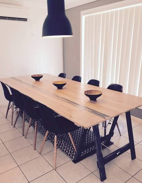 Trestle Table Shabby Chic Old School  Dining Tables  Gumtree Captivating School Dining Room Design Inspiration