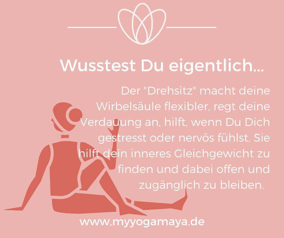 Wirkungen des Drehsitzes (Matsyendrasana #pilatesyoga