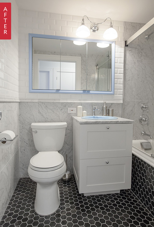 The Best Bathroom Makeovers Of Bathroom Makeovers Apartment - Small condo bathroom makeover