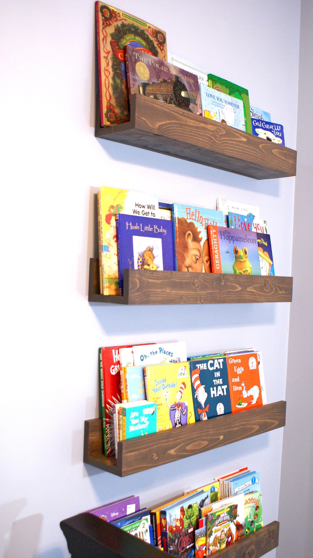 Floating Book Shelf Magazine Shelves Nursery Book Shelf Playroom