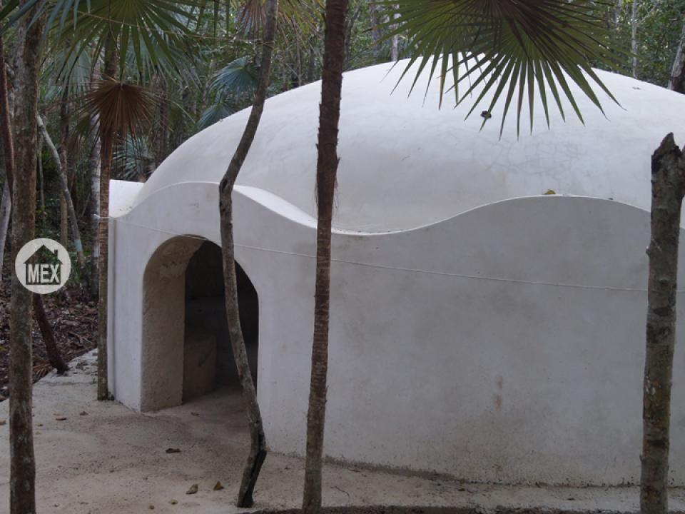 The temazcal at Holistika tulum. Tulum real estate.