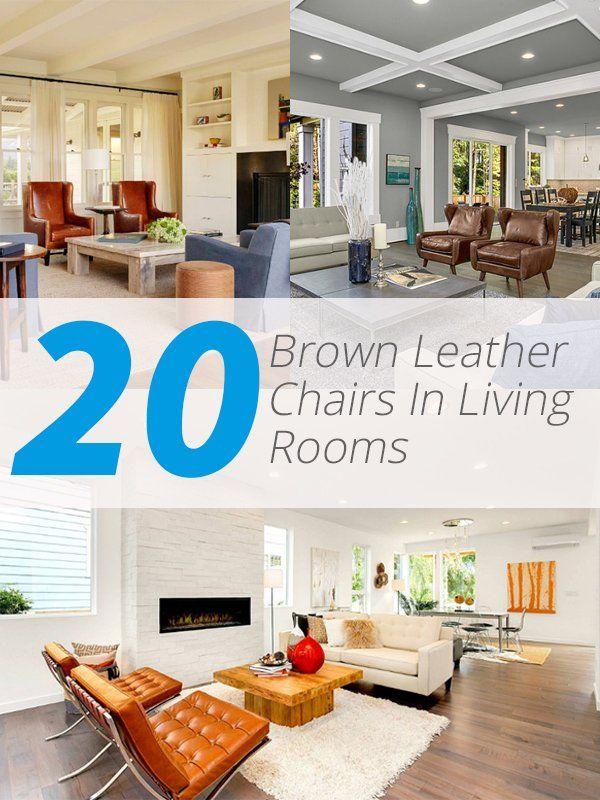 20 Braun Leder Stühlen Im Wohnzimmer -   wwweinstildekoration - wohnzimmer design braun