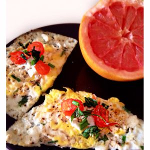 Herbed Eggs with Feta and Cherry Tomatoes--HealthyFoodFuel