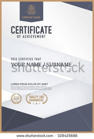 Vector Certificate Template  Certificate Of Merit